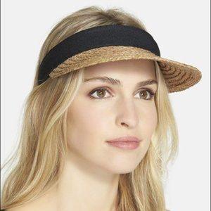 NWOTs NORDSTROM • Plaited Straw Visor Hat Cap